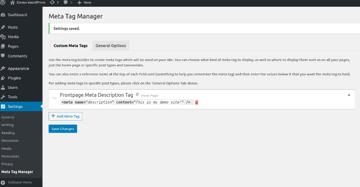 Meta Tags Listing