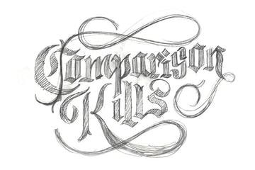 TutsPlus_Final_Lettering_Project_2nd_Rough_Pencil_Sketch