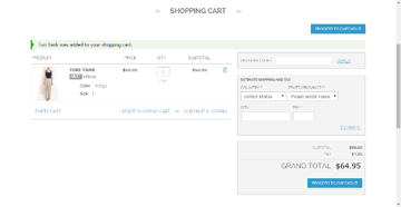 Current Cart Page