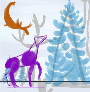 Rough deer plus antler