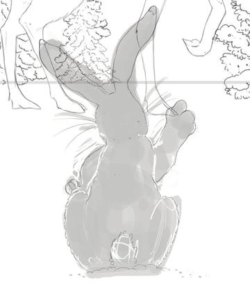 Hare line art