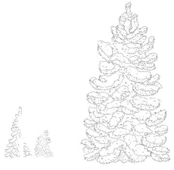 Trees line art