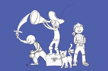 Character Line Art Isolated