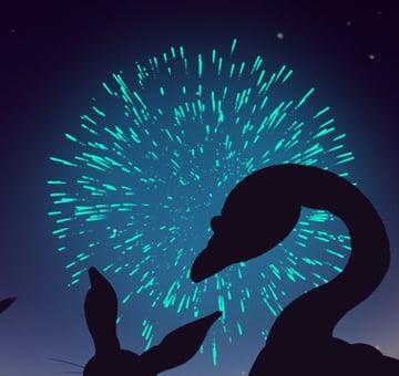 Inner Glow Applied To Firework