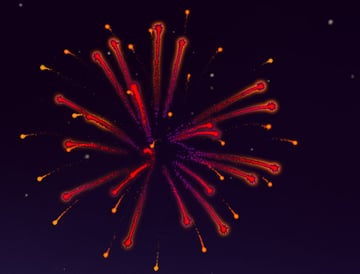 Red Firework Complete