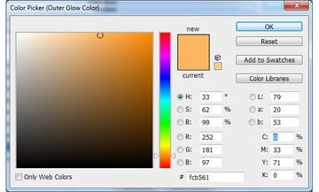 Outer Glow Colour Selection