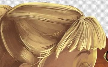 Sandy Hair - Fringe