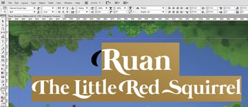 Ruan Title Selection in InDesign