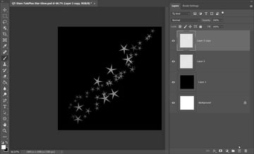 Glowing Star Trail Effect in Photoshop Base