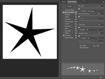 Star Brush Base for Star Trail Brush Effect in Photoshop