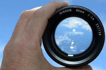Nikkor 85mm lens with large aperture