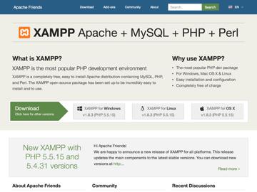 XAMPP website