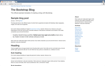 Add example blog template