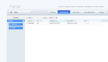 Parse Data Browser