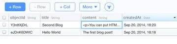 Add blog posts on Parse