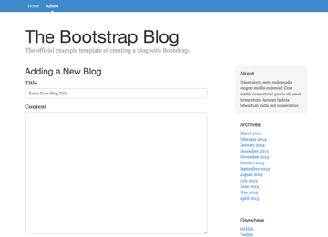 Rendered addBlogView