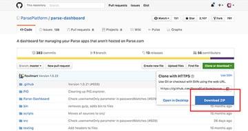 Download Parse Dashboard Repo