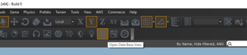 Database Editor in the EditMode Toolbar