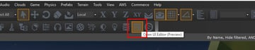 UI Editor Menu Option 2