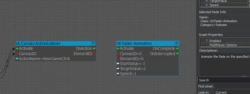 UI Fader Animation node representation