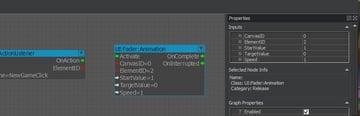 Animation node configured