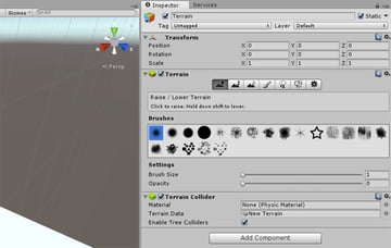 Height Tools - Brushes options