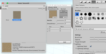 Texture Tools - Selecting the SandAlbedo Texture