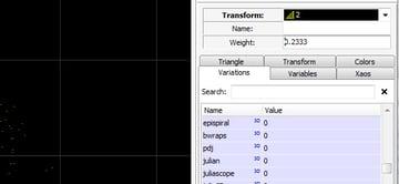 Adjusting Weight of Transform 2