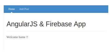 AngularJS Firebase App User Home