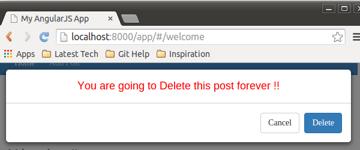 Delete Blog post pop up