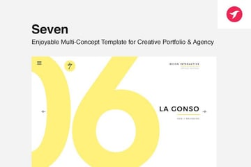 Seven - Portfolio Template for Creatives Agency