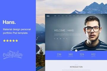 Hans - Material Design Personal Portfolio