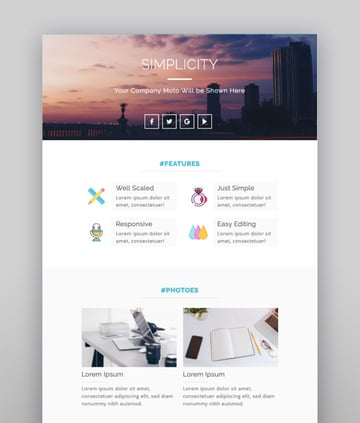 Simplicity Responsive Email Template