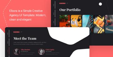 Elbora  Simple Portfolio UI Template