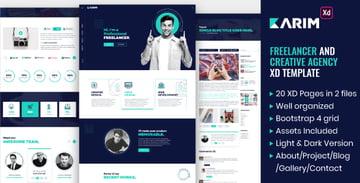 Karim - Freelancer and Creative Agency XD Template