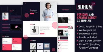 Nijhum - Personal and Creative Agency XD Template