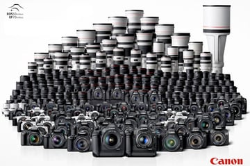 Huge selection of Canon cameras