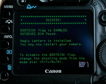 Canon 5D Mark II with Magic Lantern installed