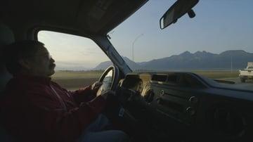 Using a wide lens inside a car