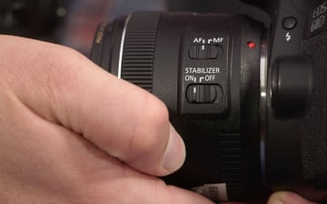 Lens Image Stabilization while using a gimbal
