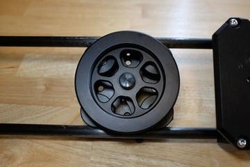 Cinevate fly wheel on a Duzi slider