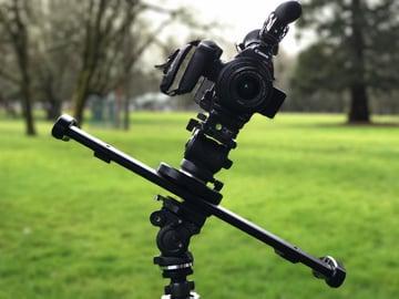 Camera and slider in diagonal slide position