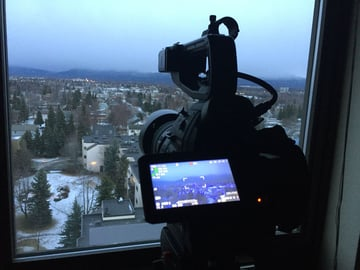Shooting a timelapse out a window