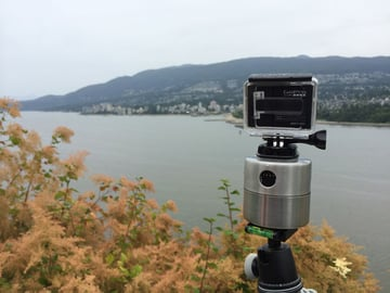GoPro camera capturing a time-lapse outdoors