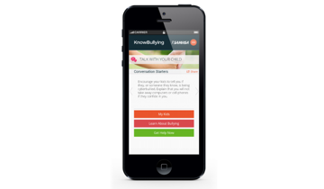 The KnowBullying app Talk with your child