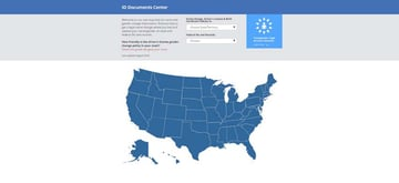 ID Documents Centre website choose a US state or federal ID type