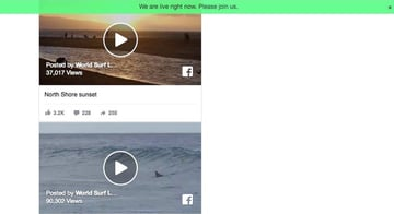 Facebook Live WordPress video plugin screenshot