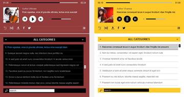 Responsive HTML5 WordPress audio player demo