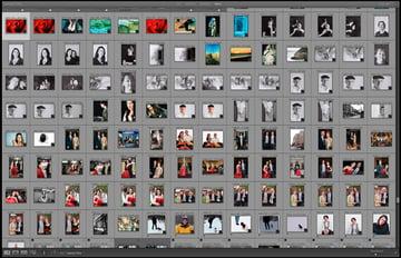 Une bibliothèque de photos Lightroom désorganisé