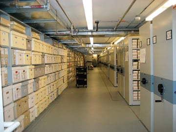 New archives storage area at Smithsonian Archives